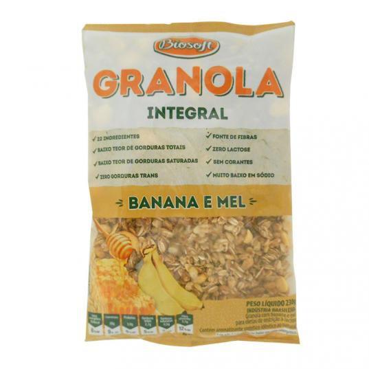 Granola Integral Banana e Mel Biosoft 230g