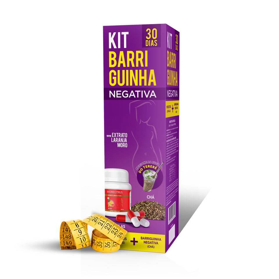 Kit 30 Dias BARRIGUINHA NEGATIVA Capsulas + Chá
