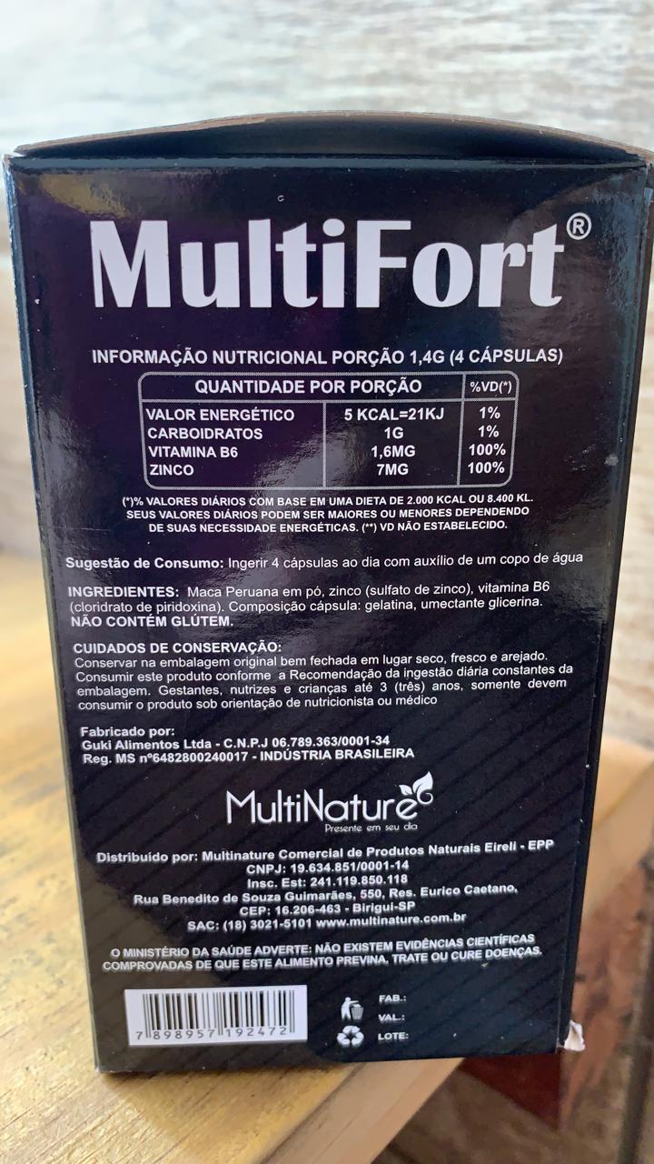 Maca Peruana 60 caps de 350mg - MultiFort