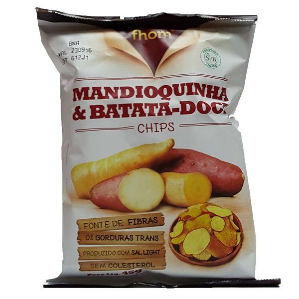 Mandioquinha e Batata doce Chips 45g