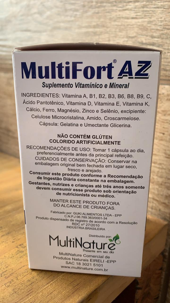 MultiFort de A a Z 30Caps de 500mg - MultiNature