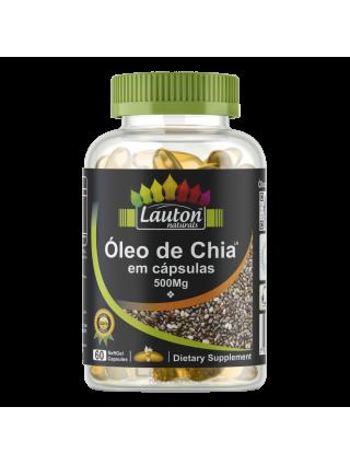 Óleo de Chia 60 Cápsulas 500mg Lauton Nutrition