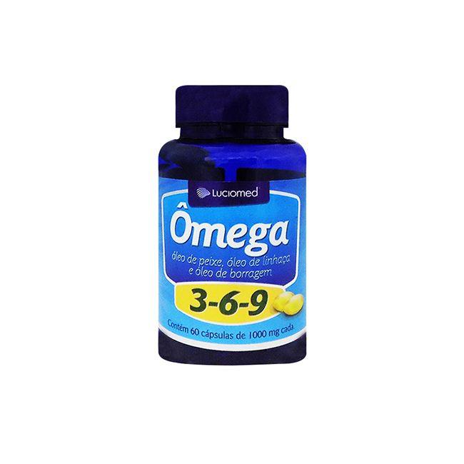 Ômega 3-6-9 ( Linhaça e Borragem ) c/ 60 cápsulas 1200 mg- Luciomed