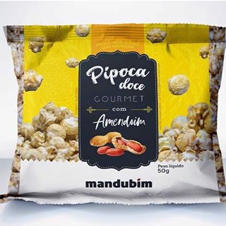 Pipoca Doce Gourmet c/ Amendoim 50g Mandubim