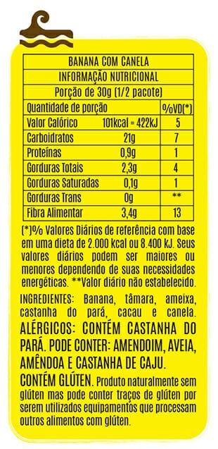 Popai Snack Sabor Banana e Canela 50g