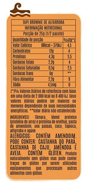 Popai Snack sabor Brownie de Alfarroba 50g