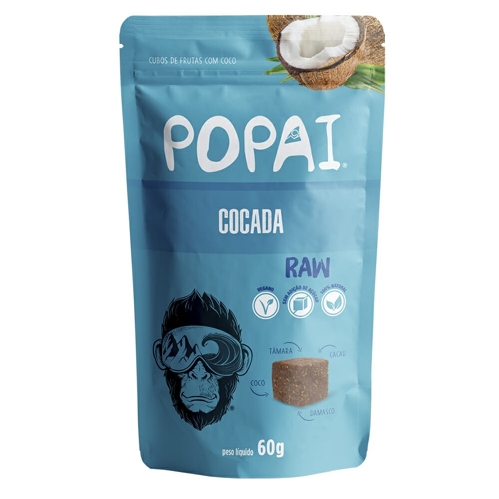 Popai Snack sabor Cocada 50g