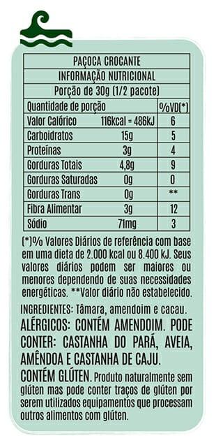 Popai Snack sabor Paçoca Crocante 50g