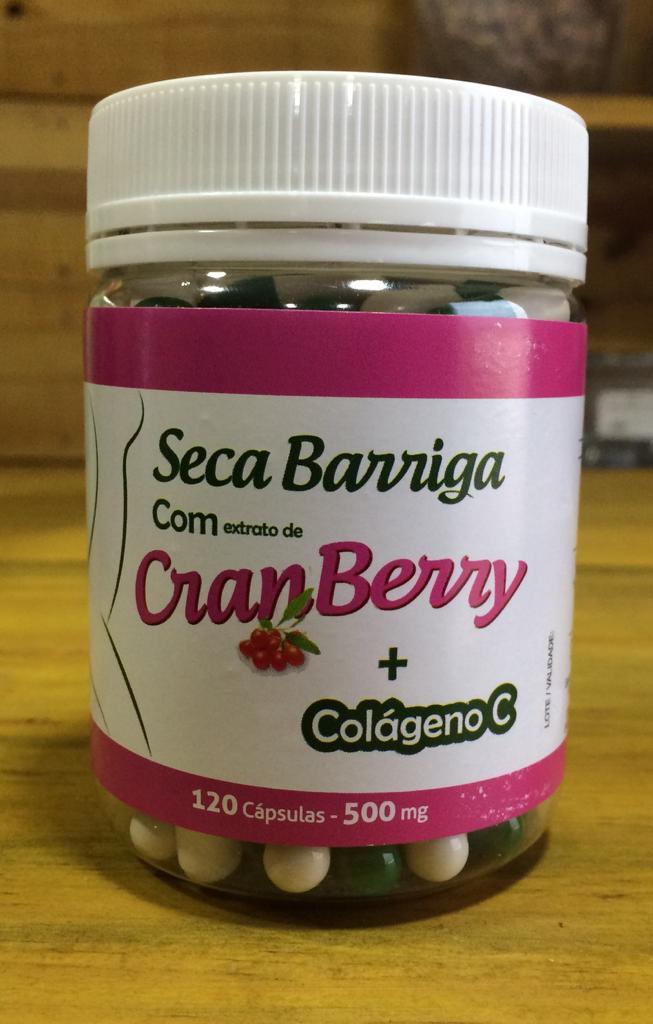 Seca Barriga c/ Cranberry + Colágeno C 500mg  120 Cápsulas GREEN VITTA