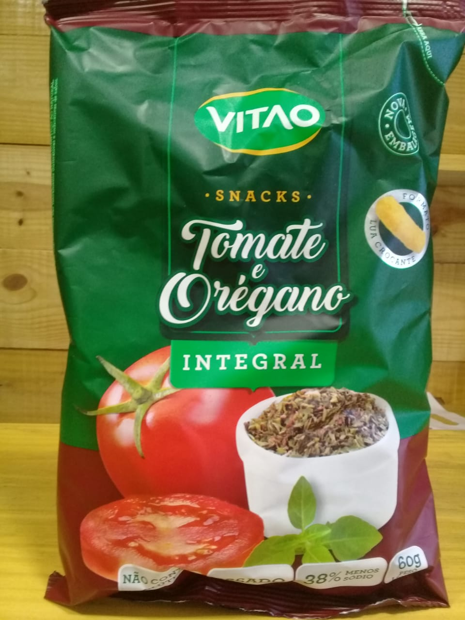 Snacks Integrais Tomate e Orégano 60g - VITAO