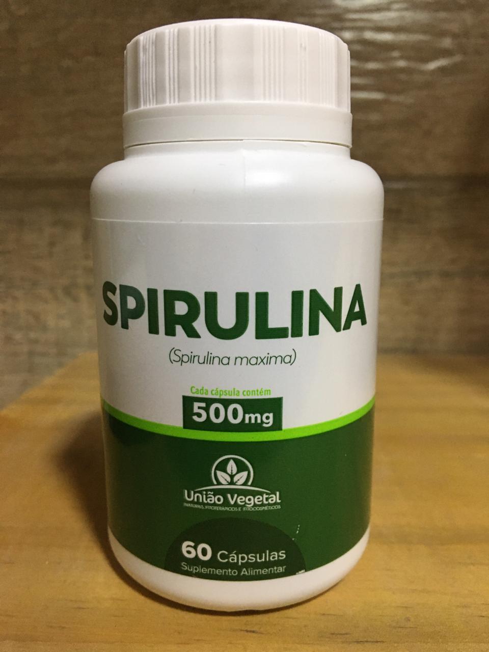 Spirulina 60 Cáps 500mg - União Vegetal