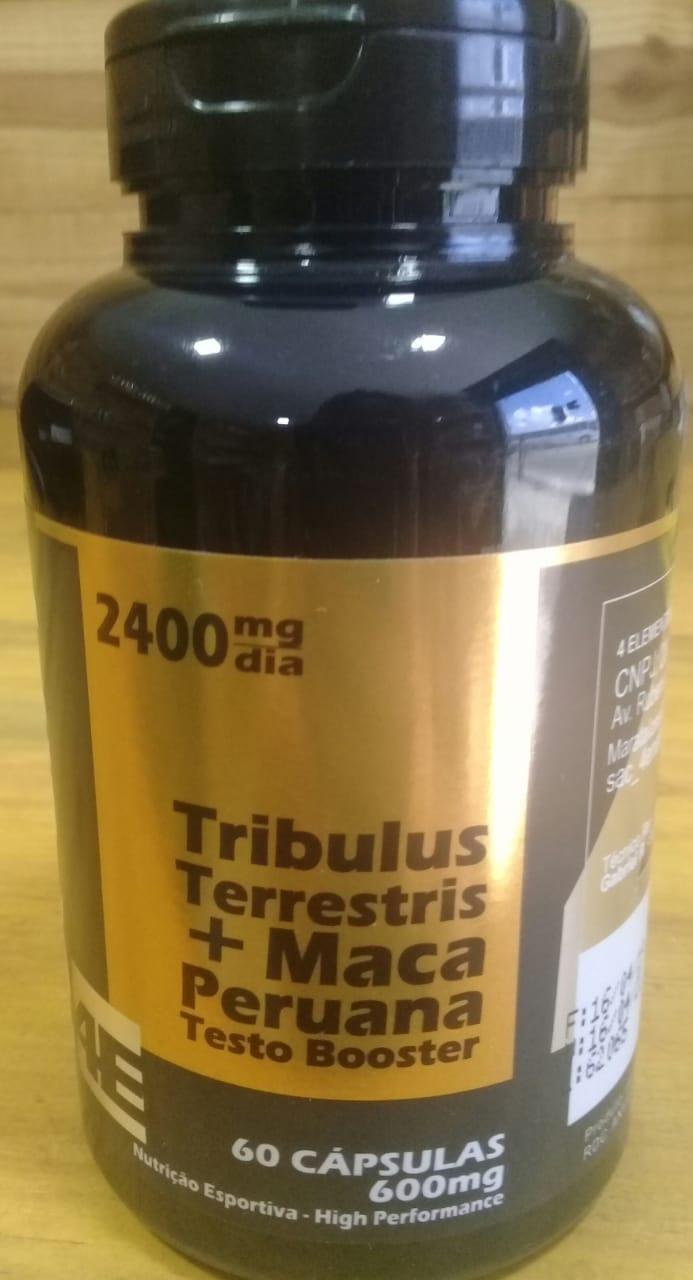 Tribulus Terrestris + Maca Peruana c/ 60 Cápsulas 600mg - 4 Elementos