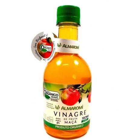 Vinagre de Fruta Maça orgânico 400ml ALMAROMI