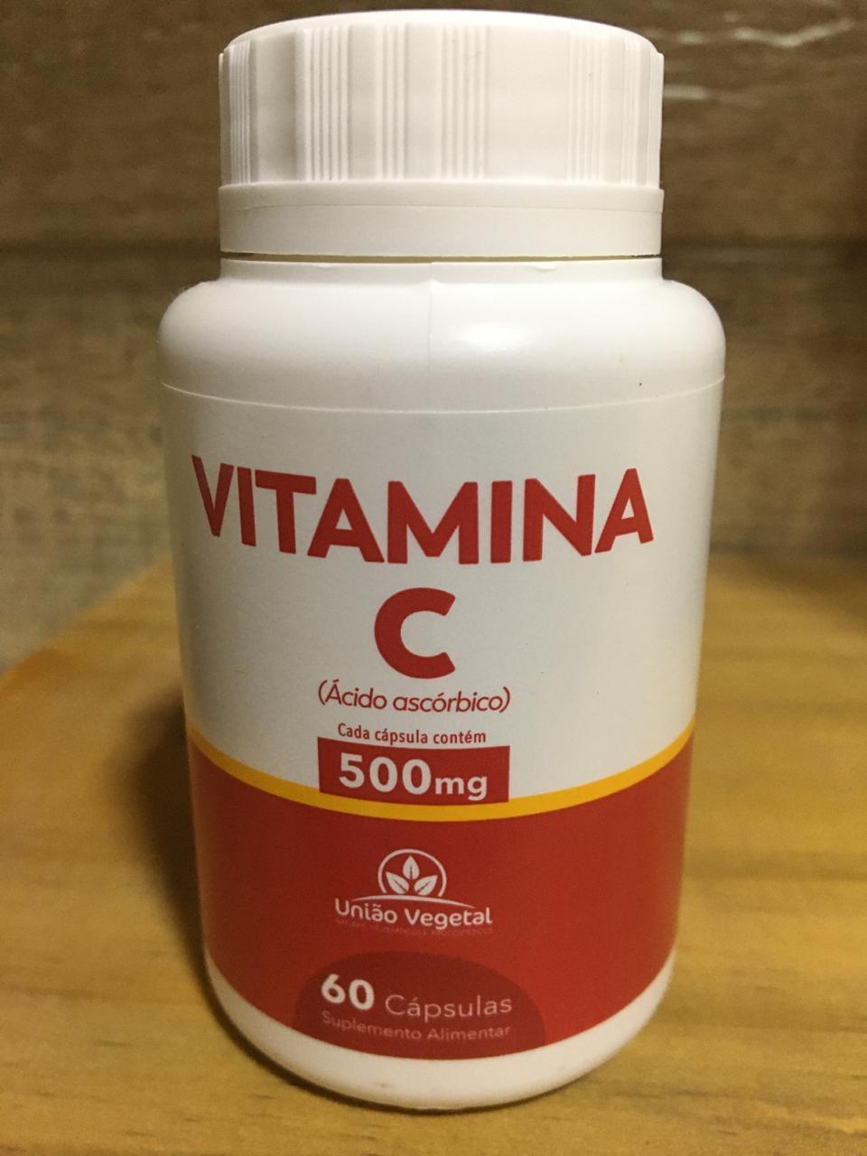 Vitamina C 60 Cáps 500mg - União Vegetal