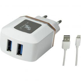 Carregador Ultra Rápido 4.0A c/ 2 USB Branco X-CELL