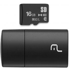 Cartão de Memória 16GB com Leitor USB - MULTILASER