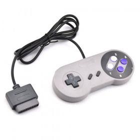 SNES - Controle SNES - Super Nintendo - Botão Estilo Clássico Cinza