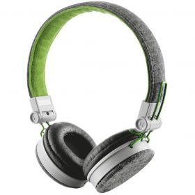 Fone de Ouvido com Microfone - Urban Revolt Fyber - Cinza/Verde - Trust