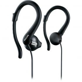 Fone de Ouvido Esportivo com Gancho Ajustável - Preto - PHILIPS