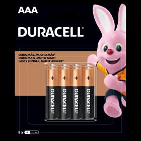 Kit Duracell Duralock Pilha Alcalina AAA (palito) C/ 8 Unidades