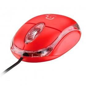 Mouse Classic Com Fio Vermelho Usb - Multilaser