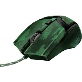 Mouse Gamer - GAV GXT 101C - Jungle Camo - 6 Botões - 4800 DPI - Trust