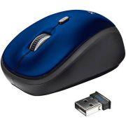 Mouse Óptico Yvi - Sem fio - Azul - Trust