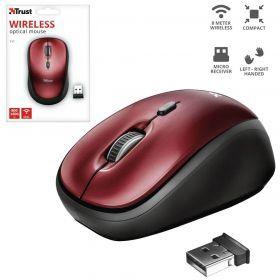 Mouse Sem fio - Yvi - 1600 DPI - Vermelho - Trust