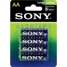 Pilha Alcalina AA (pequena) - Com 4 Pilhas - SONY