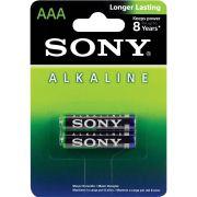 Pilha Alcalina AAA (Palito) - Com 2 Pilhas - SONY