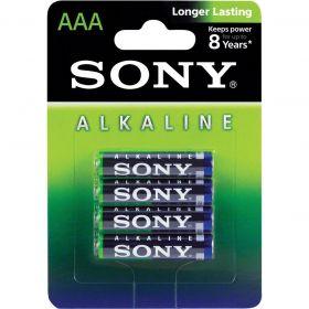 Pilha Alcalina AAA (Palito) - Com 4 Pilhas - SONY