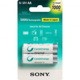 Pilha Recarregável AA 1000mAh - 2 pilhas - Sony