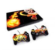 PS2 - Console PlayStation 2 Slim com 2 Controles - Mário Bros 1