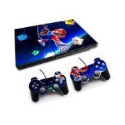 PS2 - Console PlayStation 2 Slim com 2 Controles - Mário Bros 2