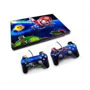 PS2 - Console PlayStation 2 Slim com 2 Controles - Mário Bros 4