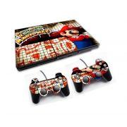 PS2 - Console PlayStation 2 Slim com 2 Controles - Mário Bros 7