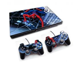 PS2 - Console PlayStation 2 Slim com 2 Controles - Spiderman 2