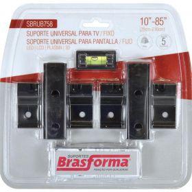 """Suporte p/ TV - Fixo - 10"""" a 85"""" - SBRUB758 - Brasforma"""