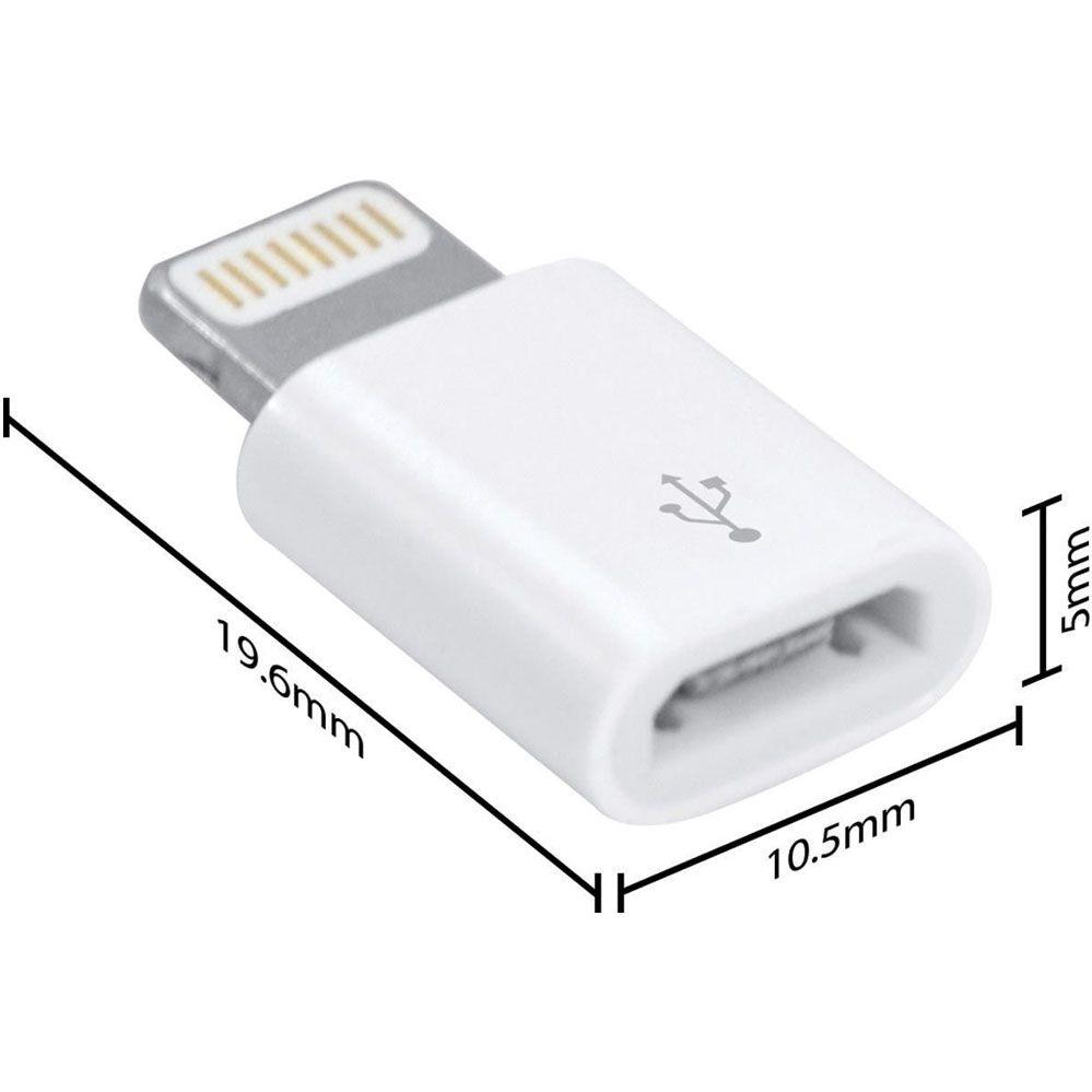 Adaptador Apple Lightning X Micro USB OTG Iphone 5 6 7 8 X Ipad