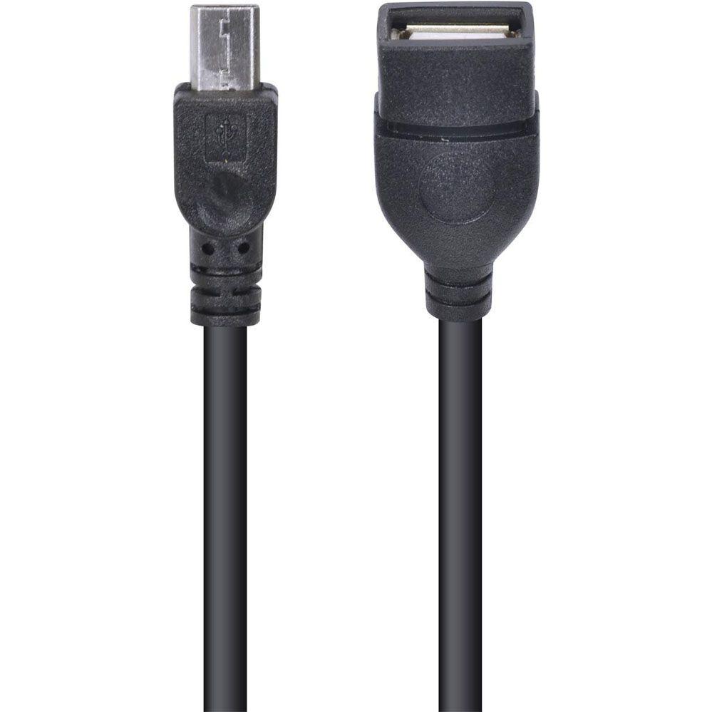 Adaptador USB Fêmea para Micro USB com função OTG