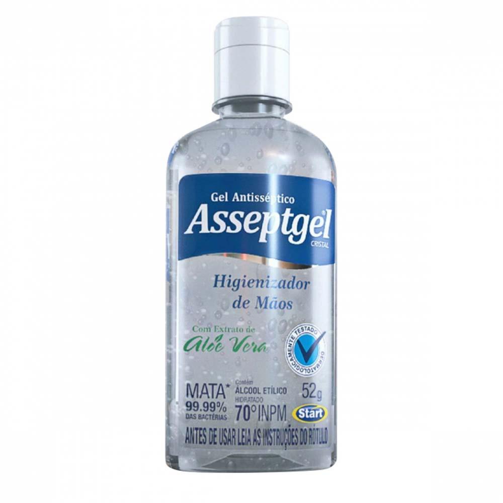 Álcool em Gel Antisséptico Cristal 52g