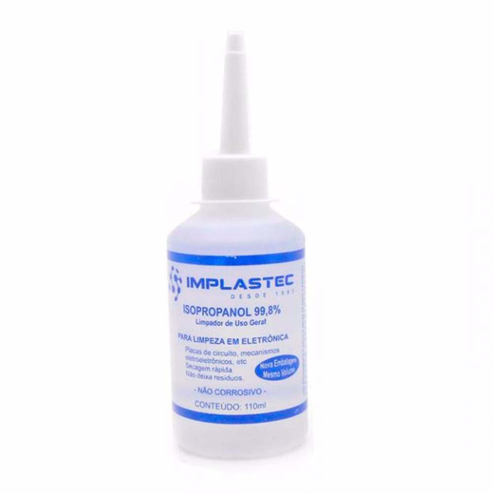 Álcool Isopropílico 110ml c/ Bico Aplicador - Implastec