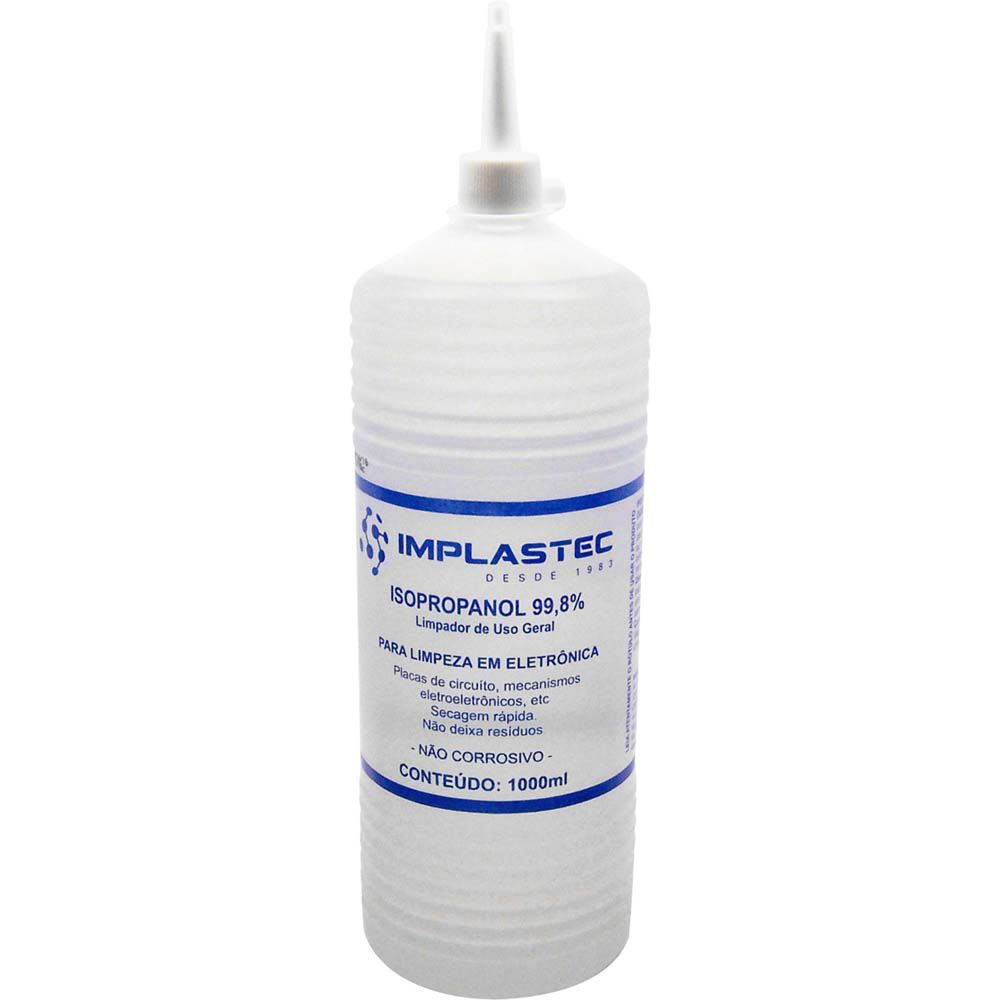 Álcool Isopropílico 1 Litro c/ Bico Aplicador - Implastec