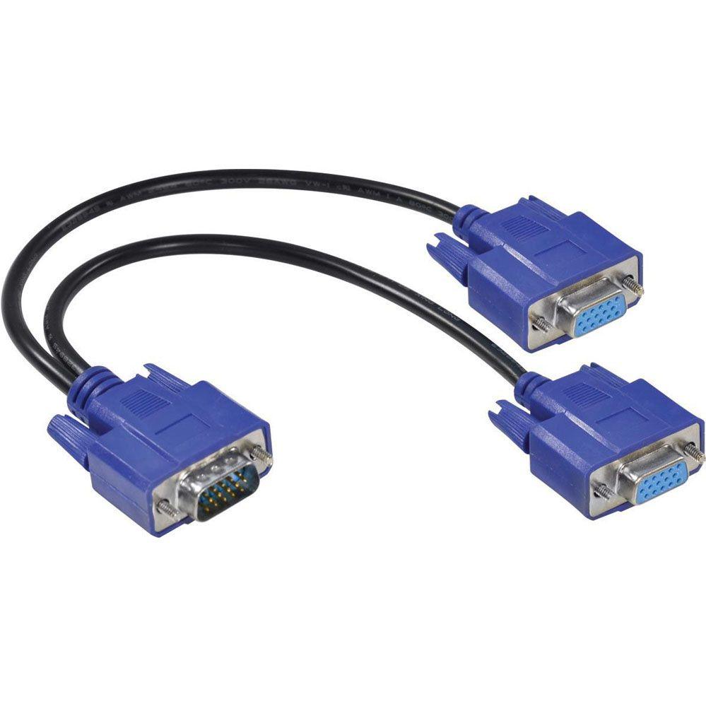 Cabo Y VGA - 1 VGA (Macho) x 2 VGA (Fêmea) - Vinik