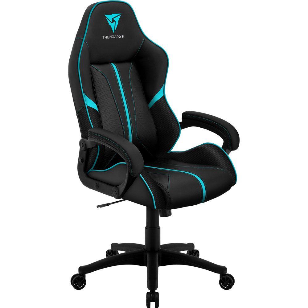 Cadeira Gamer - BC-1 - Preta/Ciano - THUNDERX3