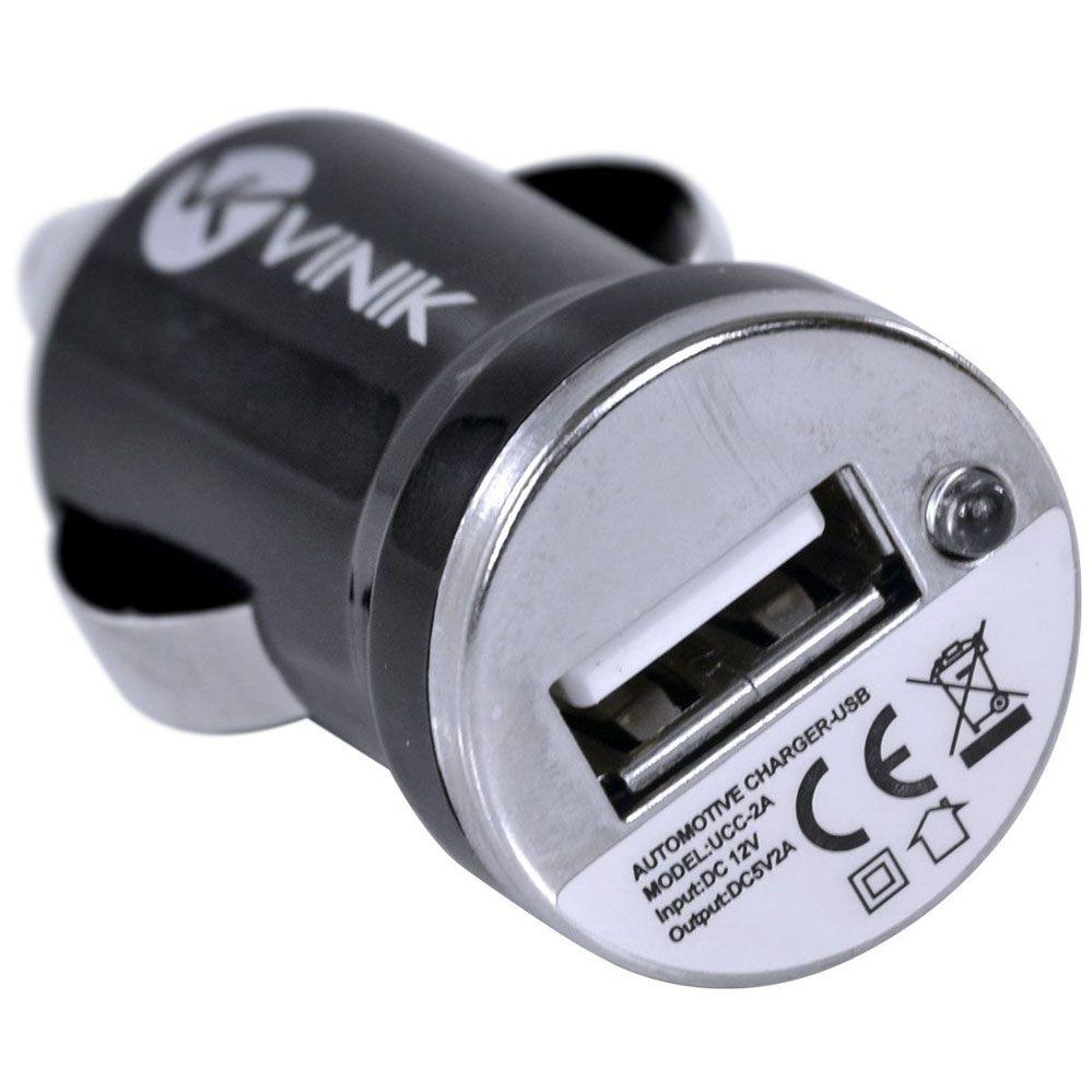 Carregador Veicular Usb 5v Ucc-2A Não Imantado / Não Magnetizado - Vinik