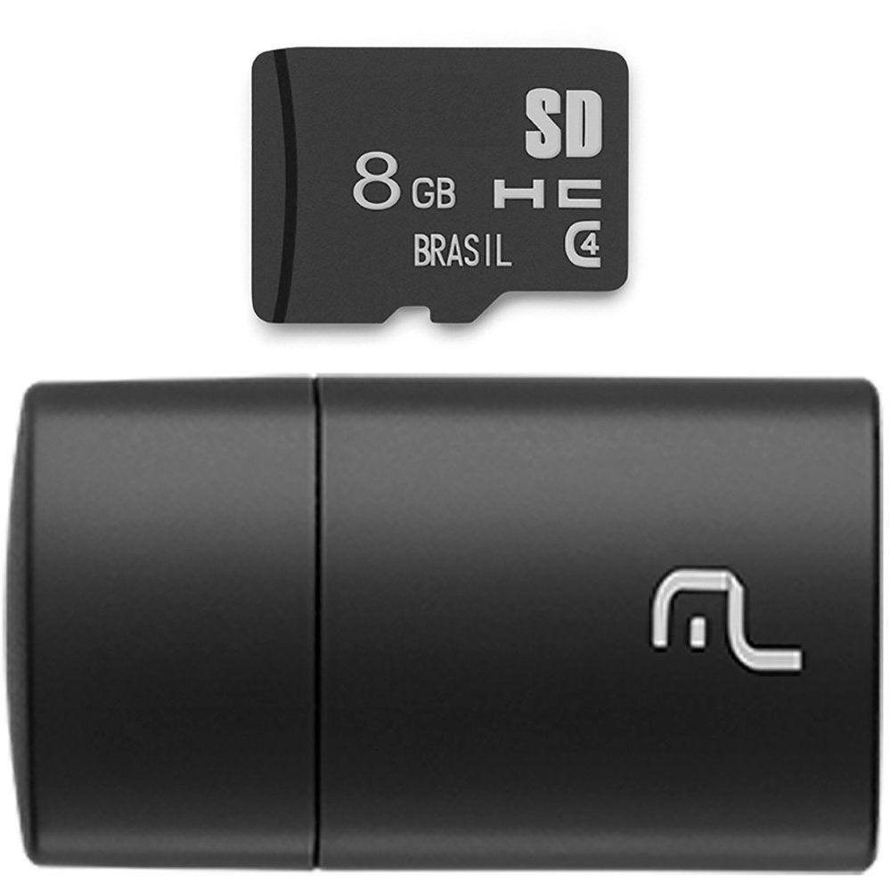 Cartão de Memória 8GB com Leitor USB - MULTILASER