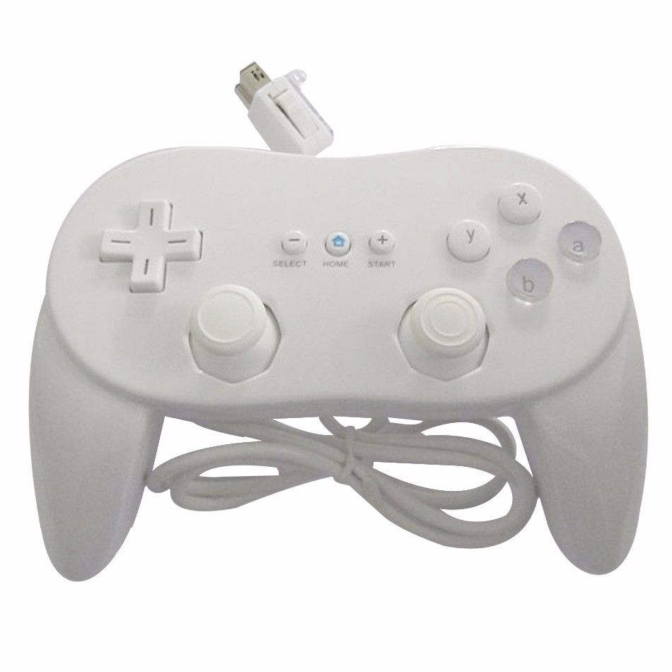 Wii - Controle Classic Pro Joystick Wii - Branco