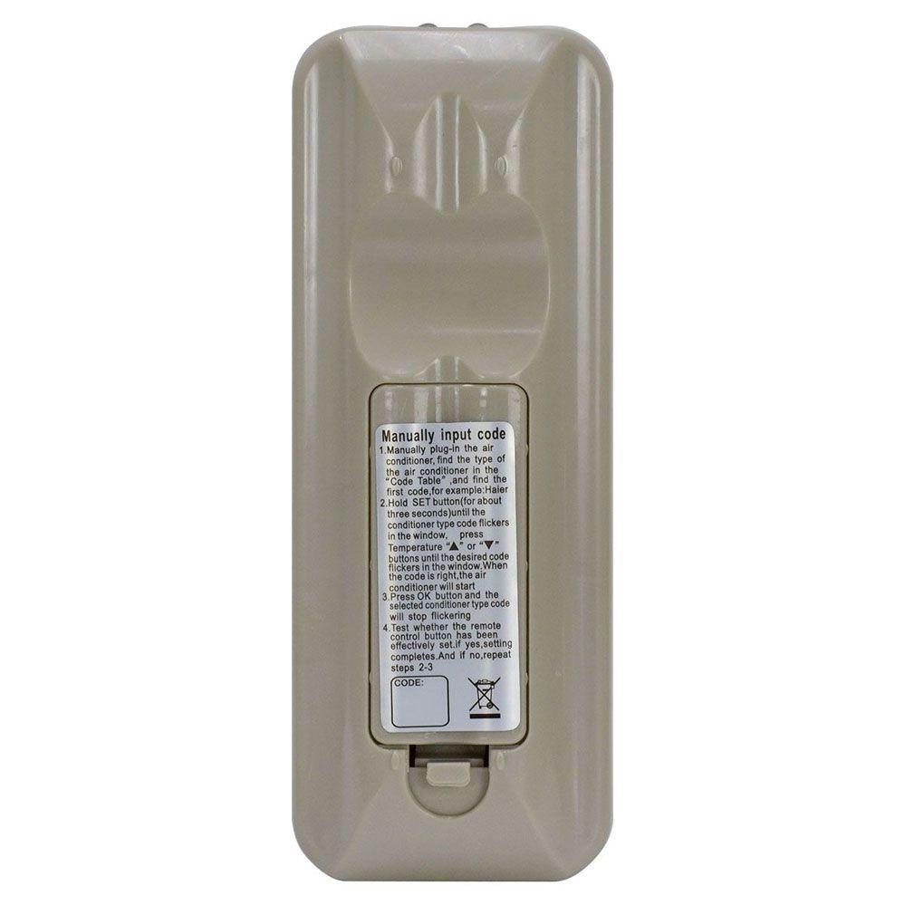 Controle Remoto Universal Para Ar Condicionado Consul Gree Hitachi Lg Midea Panasonic Samsung Toshiba York