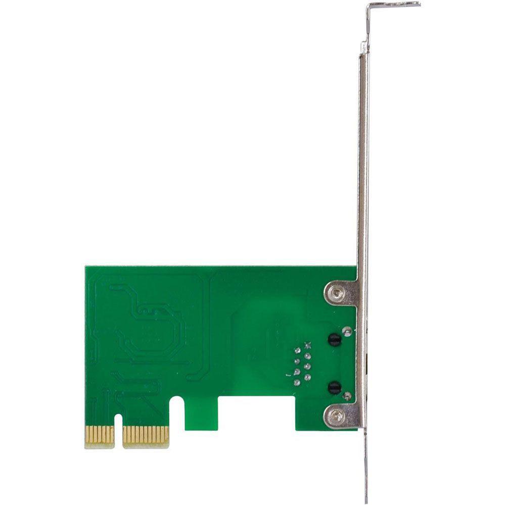 Placa de Rede 10/100/1000 PCI-e - Com Suporte Low Profile